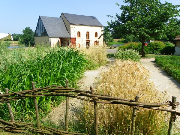 vue jardin de céréales moulin