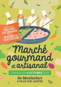 Affiche Marché Gourmand et Artisanal 2019 Ile MoulinSart
